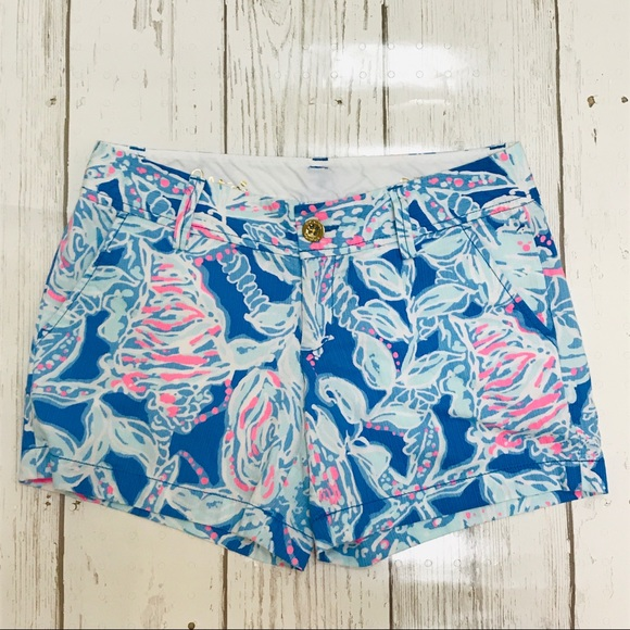 ba211a7af64fc3 Lilly Pulitzer Shorts | Callahan Bay Blue Into The Deep 2 | Poshmark